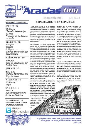 Boletín del 26 de mayo 2013